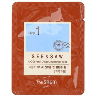 The Saem SEE & SAW AC Control Deep Cleansing Foam 3 мл